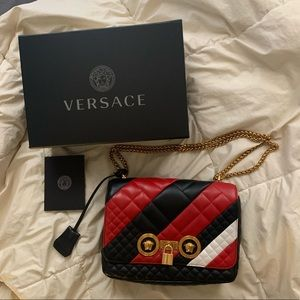 Versace Icon Colorblock Crossbody Bag with Padlock